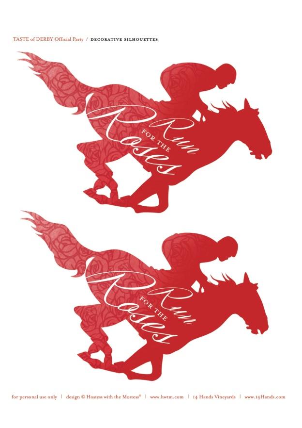 Derby red horse