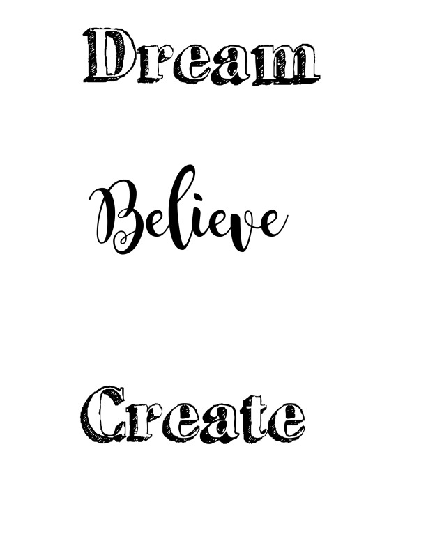 dream art board wording