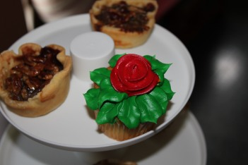 Mini Derby pies and Rose cupcakes