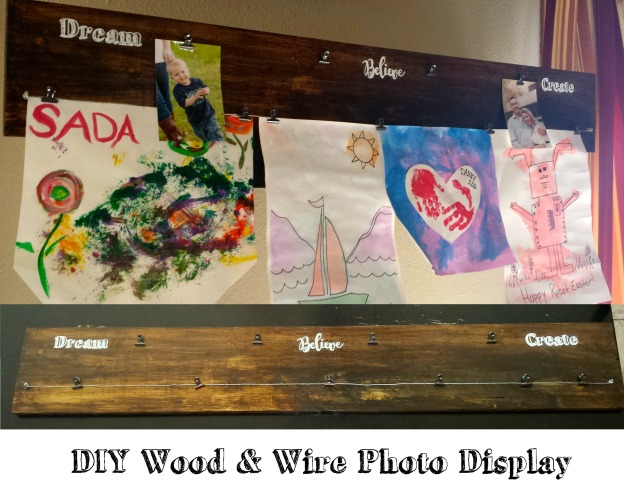 Wood and Wire Photo Display3