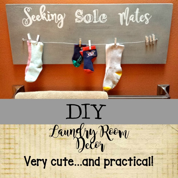 Laundry room decor socks