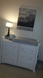 Ombre boxes & lamp from Target, Dresser from Amazon