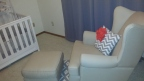 Chair & Ottoman from Pottery Barn Kids, Pillow from Bed Buggs Boutique
