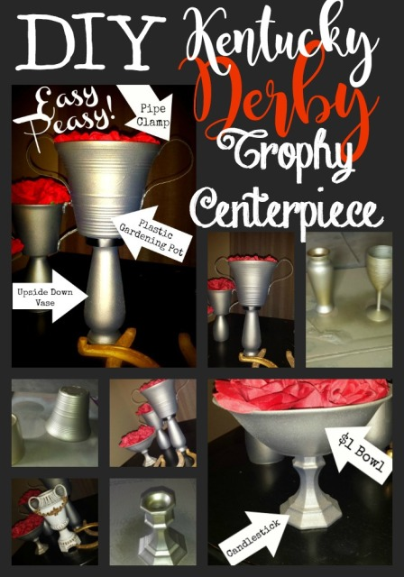 DIY Derby Trophy Centerpiece